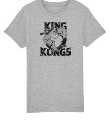 kinder shirt grau cartoon Philip Schlaffer - King unter den Kongs